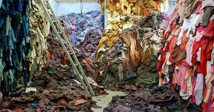 colourful piles of clothing