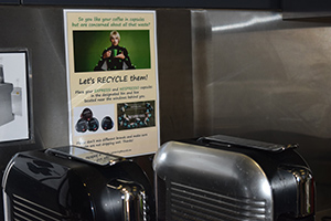 Coffee pod recycling at Queensland Brain Institute