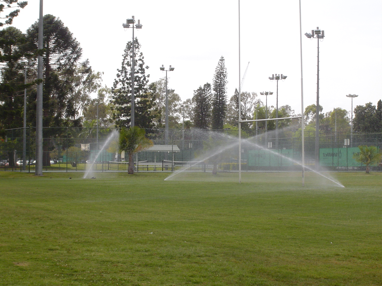 Irrigation at the UQ Oval
