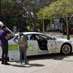 Tesla on UQ campus