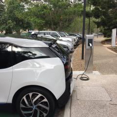 Electric vehicle charger in Sports Precinct