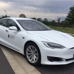 UQ's Tesla electric vehicle