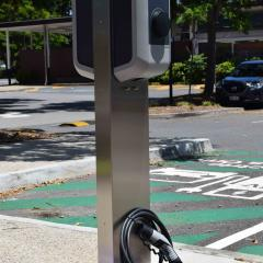 electric vehicle charger connection point