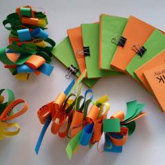 Recycled paper enrichment toys for study budgerigars
