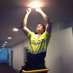 LED lighting install at PACE