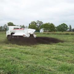 Truck spreading fertiliser in Lockyer Valley