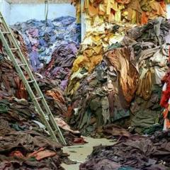 piles of clothing