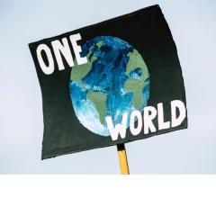 """""""One World"""" Protest Poster"""